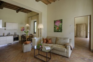 Living room in one of the apartments of Chianti & more